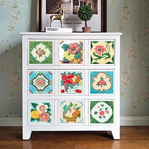Azulejos Adhesivos Flor Rosa VerdeVinilosCocinaAzulejosAntisalpicadurasVinilosBañoAzulejosImpermeableVinilosdeparedDecorativosPinturaparaAzulejosAdhesivodePared 20x20cm