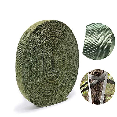 Garden Tree Strap, 148 Feet Durable Nylon Plant Ties for Garden Plant Stake Supports (Army Green)