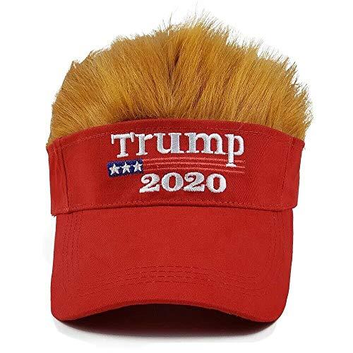 Migi Donald Trump Hat with Hair 2020 Wig Visor Keep America Great MAGA Hat USA Cap Red, same