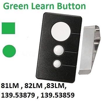 Sears Chamberlain Craftsman Green Learn Button Garage Door Remote Control Amazon Com
