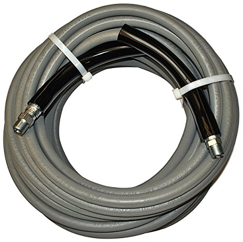 Eaglewash I Wrapped Grey Modified Nitrile Pressure Washer Hose Assembly, 3/8