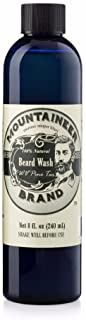 (Pine Tar, 240ml) - Beard Wash by Mountaineer Brand All-Natural beard shampoo - Cleans and Conditions (240ml, WV Pine Tar)