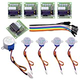 ELEGOO 5 Sets 28BYJ-48 ULN2003 5V Stepper Motor + ULN2003 Driver Board Compatible with Arduino
