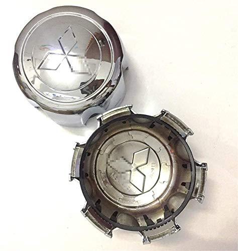 Tapas de cubo de centro de coche de 4 piezas para Mitsubishi Pajero, pegatinas de insignia de logotipo de centro de rueda de 134 mm, accesorios de decoración de modelado de neumáticos