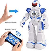 MH Zone Smart Robot for Kids with Remote and Gesture Control Robotics Gifts for Boys Girls (Blue)