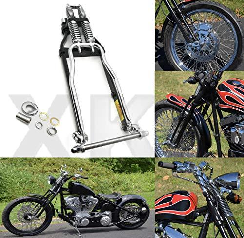 "XKMT-20"" 2 Under Chrome bLACK Springer Front End With Axle Kit Compatible With Harley Chopper Bobber [B07M8DQP5C]"