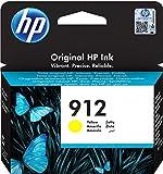 HP 912, 3YL79AE, Cartuccia Originale Standard, 315 pagine, Compatibile con Stampanti a Getto di Inchiostro OfficeJet Pro Serie 8010 e 8020, Giallo
