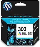 HP 302 F6U65AE Cartucho de Tinta para Impresoras (4 ml), Tri-Color, Estándar