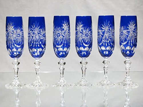 Cristal De Bohême Taillé - Copas de cristal de Bohemia tallado para...