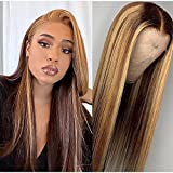 Beeos 13x4 Highlight Lace Front Human Hair...