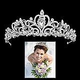 Bigtree Mariage Tiare Diadème Couronne Cristal en Strass Tiare Nuptiale Élégante Princesse Accessoires Cheveux pour Mariée Soirée