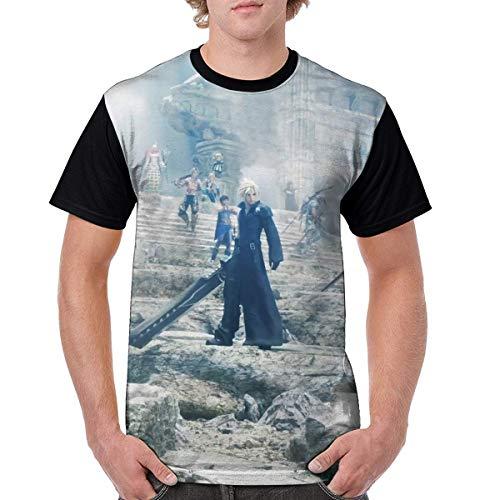 Final Fantasy-Dissidia Hombres Moda Poliéster Camisa Manga Corta Camisa Anime