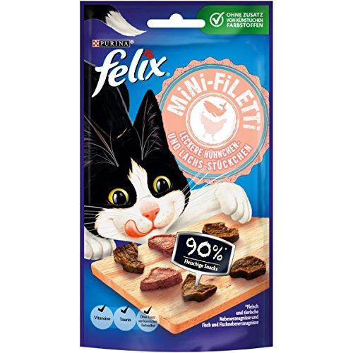 Nestlé Felix Mini de filetti Gato Snack, 7Unidades (7x 40g Bolsa)