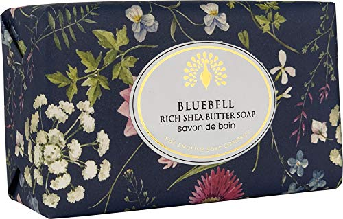 The English Soap Company, Vintage Wrapped Shea Butter Soap, Bluebell, 200g