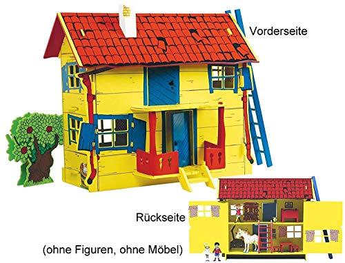 Pippi Langstrumpf 44.3688.00 - Pippi Villa Kunterbunt, Holz-Puppenhaus