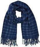 Levi's Bombarde Textured Wrap Bufanda, Azul (Dark Blue 18), Talla única (Talla del fabricante: UN) para Mujer