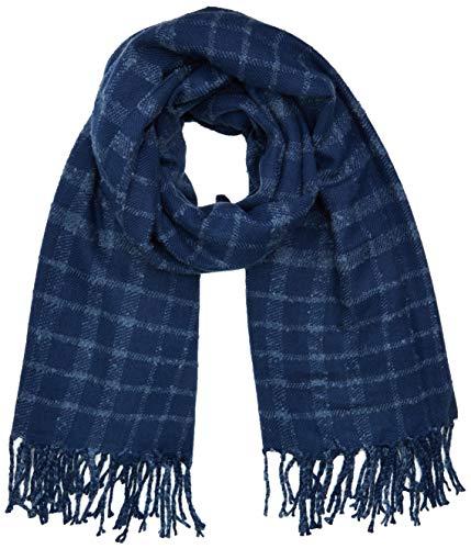 Levi's Dames Bombarde Textured Wrap sjaal, Blauw (Dark Blue 18), One size (Manufacturer Maat: UN)