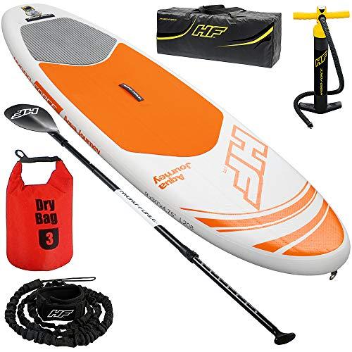 SUP Board aufblasbares Surfbrett Set | 3L Drybag | 120mm Rail | Coil Leash | Waveboard | 115kg | Wellenreiten Stand Up Paddle Board