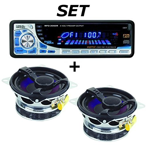 Starter Kit: CD / MP3 - Car Radio with Speakers and Cables