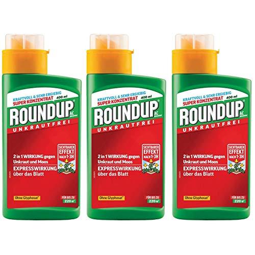 ROUNDUP AC Unkrautfrei Konzentrat 1,2 l - wirkt als nicht selektives Blattkontaktherbizid auf praktisch alle grünen, wachsenden Pflanzen.