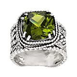 Silpada 'Wade It Out' Natural Peridot Textured Ring in Sterling Silver, Size 7