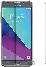 واقي شاشة Galaxy Pro J3 متوافق مع هاتف Galaxy J3 Luna Pro/ J3 Prime/ J3 Mission/ J3 Emerge/ J3 Eclipse ، زجاج مقسى، شفاف كريستالي ومضاد للفقاعات، ومضاد للبصمات