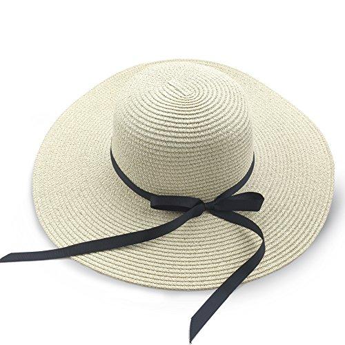 Sombrero Para el Sol Para Mujer, Gorra de Paja para Mujer Sombrero...