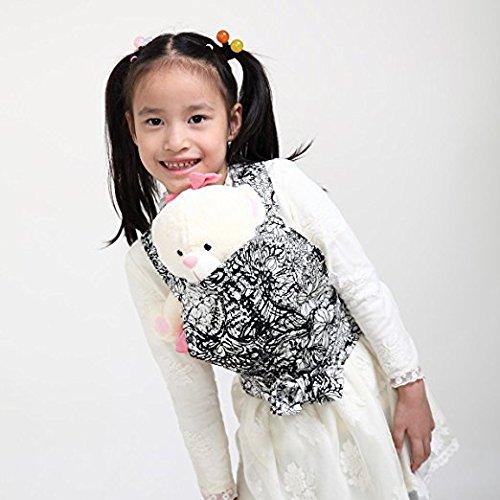 Mini-porteuse Fleur Dot Cloud Kal/éidoscope Hibou Baby Doll Carrier Mei Tai Sling Toy pour enfants Enfant enfant en bas denfant Dos