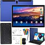 Tablette Tactile 10 Pouces Android 9.0 Pie 4G/WiFi, Tablettes Ultra-Rapides 4 Go RAM + 64 Go ROM/256 Go Évolutif | Ordinateur Portable de Convertible | Dual SIM - GPS Type-C 8000mAh 5.0+8.0MP (Bleu)