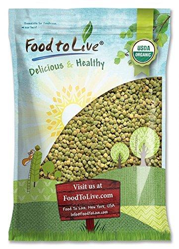 Organic Green Lentils, 10 Pounds