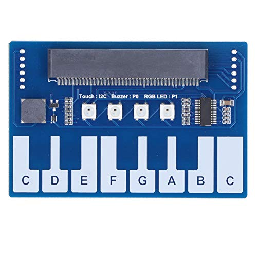 Placa de expansión PCB Mini Piano Module con 4 LED Chip táctil capacitivo integrado TTP229 Interfaz I2C de zumbador integrado para Micro: bit