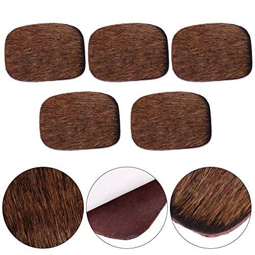 Weiyiroty Reposapiés de Flecha de Caza, Conveniente Placa silenciosa de Arco Compacto de Peso Ligero, Juego para Disparar Arcos de Caza(Brown)