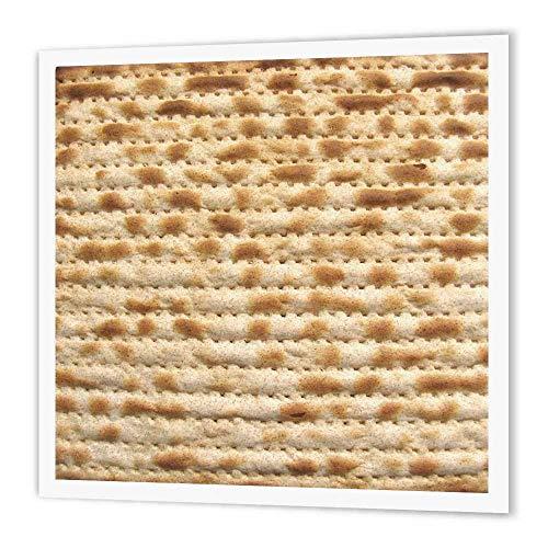 3dRose HT 112943_ 2Matzah Brot Textur für Pessach Pessach Humorvolle Matze Judentum Lebensmittel Eisen auf Wärmeübertragung für weiß Material, 6by 15,2cm