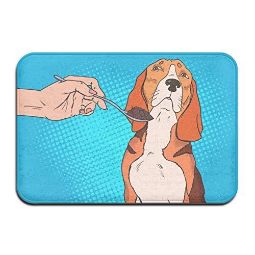 Beagle - Felpudo antideslizante para puerta de cocina, baño, sala de estar