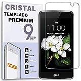 REY Protector de Pantalla para LG K7, Cristal Vidrio Templado Premium