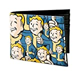 Fallout 4 Vault Boy Stacked All Over Print Embossed Bi-fold Faux PU Leather Wallet