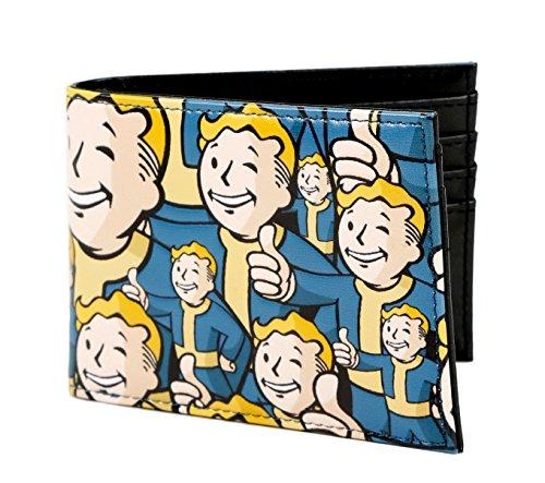 Fallout 4 Vault Boy Portemonnaie aus Kunstleder, doppelt gefaltet, mit Prägung