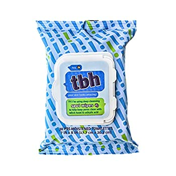 TBH Kids Spot Wash Face Wipes- Kids Acne Wipes- Facial Cleansing Wipes- Made w/ Natural Ingredients in the USA - Sulfate Paraben Free - 30 Pack