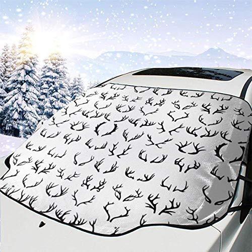 LYMT Frontscheibenabdeckung Scheibenabdeckung Jagd auf Geweihhirsche Auto Windschutzscheibe Abdeckung Faltbare für UV-Strahlung, Sonne, Staub, Frost und Schnee 147 * 118cm