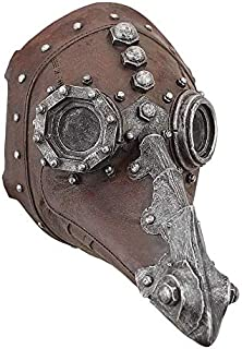 Design Toscano Doctor of Death Steampunk Plague Sculptural Mask, Full Color