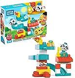 Mega Bloks Peek-A-Bloks ¡Vamos al Parque de Atracción! bloques de construcción para niños +1 año (Mattel GKX70)