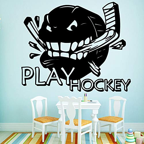 Hetingyue Cartoon Sport-Hockey-muursticker voor de woonkamer, afneembaar, decoratief, vinyl decoratie