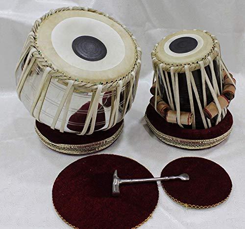 3 kg Tabla Legno Sheesham Dayan 4 kg// Designer Tabla set Fasherati Tabla Set Brass Chrome Plated Bayan