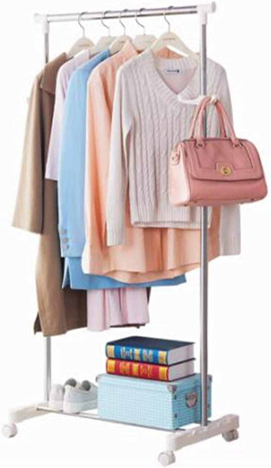 Standing Coat Racks Simple Metal Coat Rack Floor Clothes Rack Bedroom Living Room Mobile Hanger Modern Minimalist Floor Hanger -0223