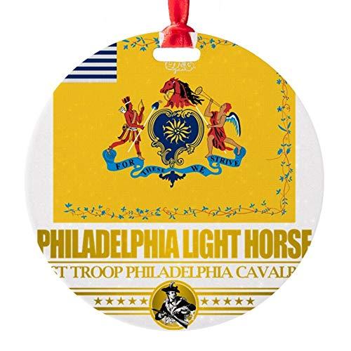 Philadelphia Light Horse (Flag 10)2 Round Ornament