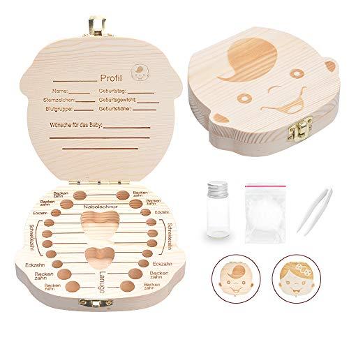 LATTCURE Zahnbox, Milchzahndose Milchzahnbox Milchzähne Box Zahndose perfekt als kleines Geschenk Jungen Mädchen (Jungen)