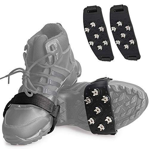 アイゼン 靴用滑り止め 靴底用 7本爪 Tasun 2020最新版 軽量 簡単装着 クイックフィット スノー 登山 通勤 通学 凍結道路 雪 対策 多種靴適応 かんじき
