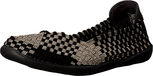 Bernie Mev Women's Braided Catwalk Bronze/black Velvet Flats - 5.5 B(M) US