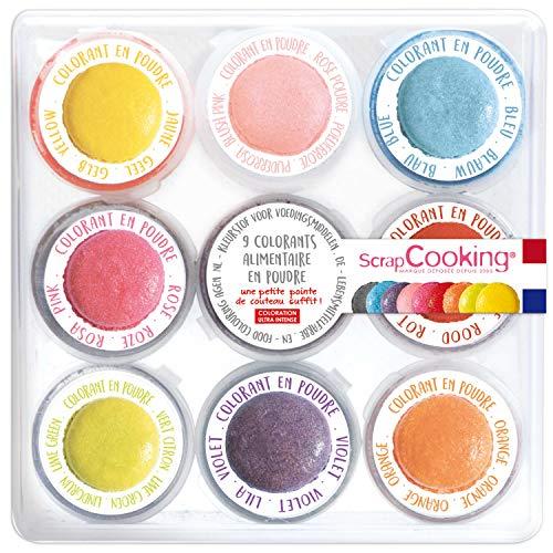 SCRAP COOKING Boite de 9 Colorants Alimentaires en Poudre...