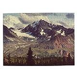 Bernice Winifred Landscapes On Denali Highwayalaska Instagram Picture Puzzle Rompecabezas de madera, divertidos y que reducen el estrés, adecuados para adultos y niños de 10 años o más 500PCS